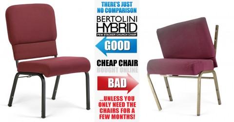 Don' settle for a cheap church chair.