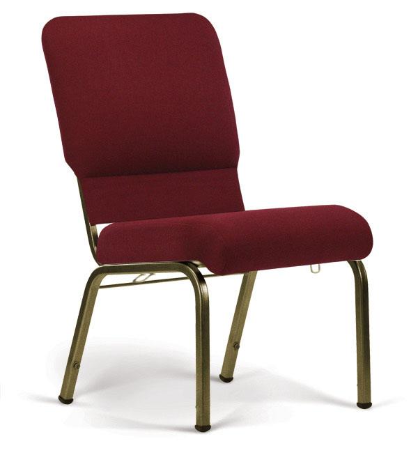 Bertolini-Hybrid Church Chairs Maroon & Gold Vein 20-Wide