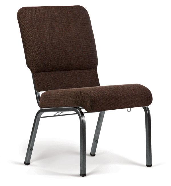 Bertolini-Hybrid Church Chairs Espresso & Silver Vein 20-Wide