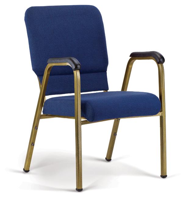 Bertolini-Hybrid Arm Chair Indigo & Gold Vein with 20'' Seat
