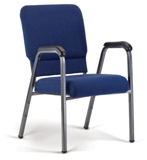 Bertolini-Hybrid Arm Chair Indigo & Silver Vein