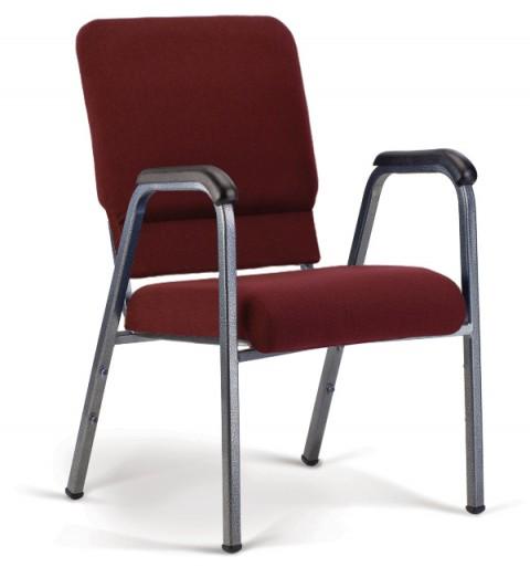 Bertolini-Hybrid Arm Chair Maroon & Silver Vein