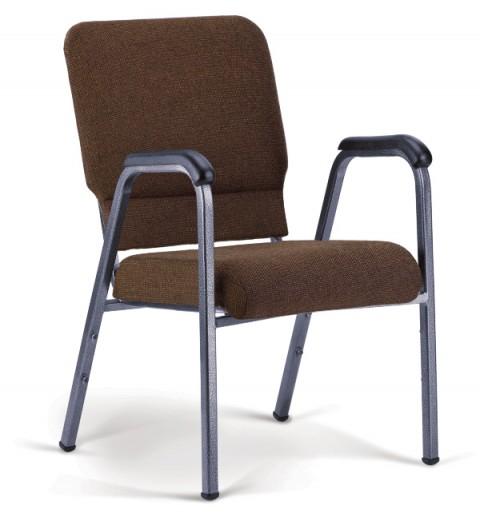 Bertolini-Hybrid Arm Chair Espresso & Silver Vein