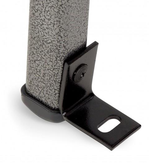 l-bracket on chair close up