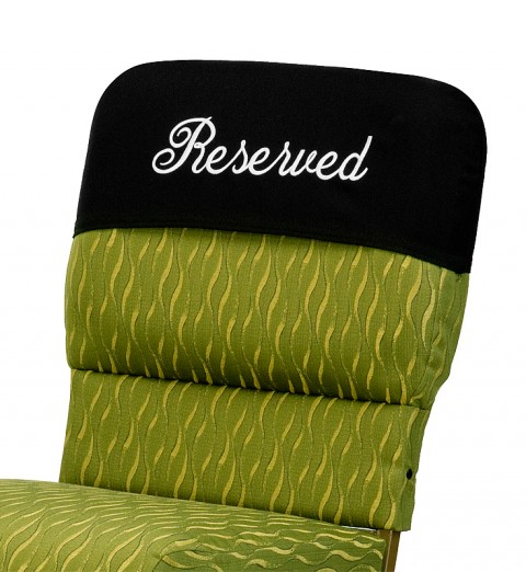 reserved cover on chair