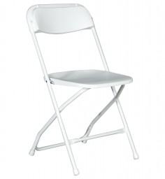 Plastic Folding Chair-White