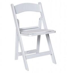 Resin Folding Chair-White