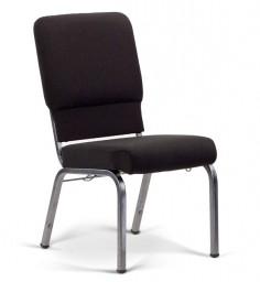 Bertolini-Hybrid Church Chairs Black & Silver Vein 18-Wide