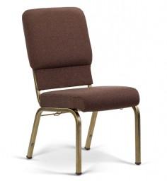 Bertolini-Hybrid Church Chairs Espresso & Gold Vein 18-Wide
