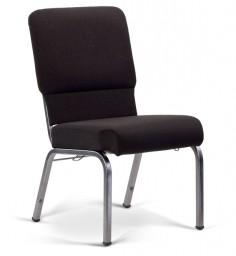 Bertolini-Hybrid Church Chairs Black & Silver Vein 20-Wide