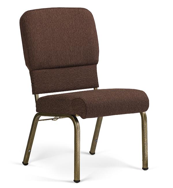 "20"" Wide Liberty Hybrid Church Chairs Espresso & Goldvein"