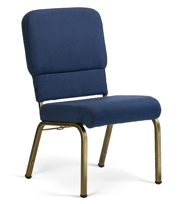 "20"" Wide Liberty Hybrid Church Chairs Indigo & Goldvein"