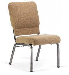Bertolini-Hybrid Church Chairs Khaki & Silver Vein 20-Wide
