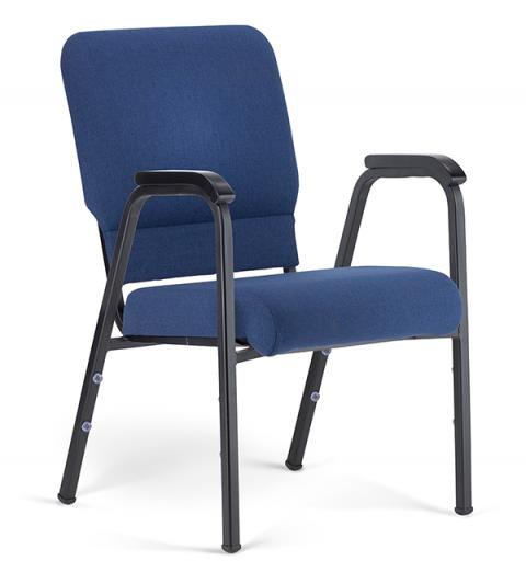 "Bertolini-Hybrid Arm Chair Indigo & Black with 20"" Seat"