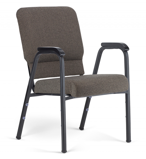 "Bertolini-Hybrid Arm Chair Fossil & Black with 20"" Seat"