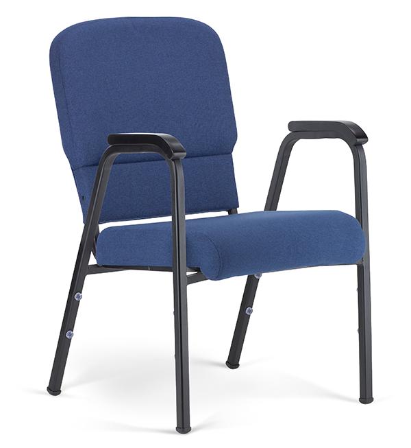 "Liberty Hybrid Arm Chair Indigo & Black with 20"" Seat"