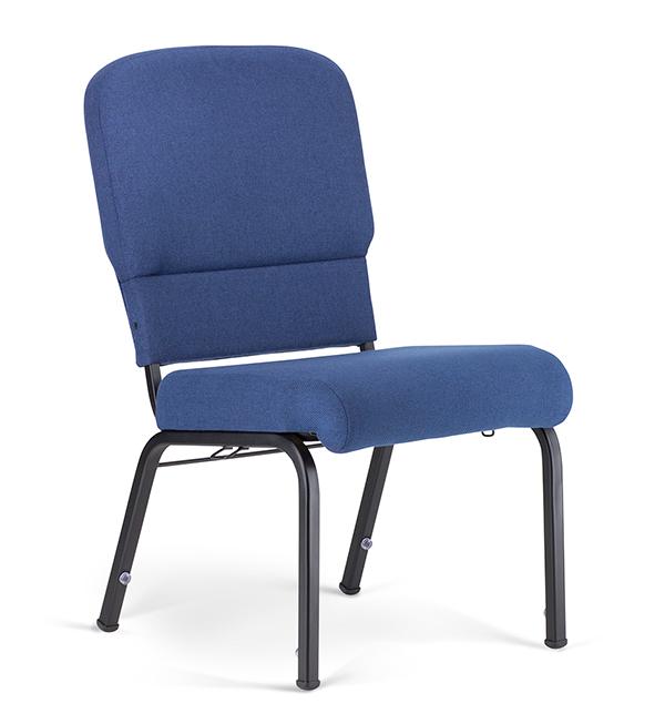 "20"" Wide Liberty Hybrid Church Chairs Indigo & Black"