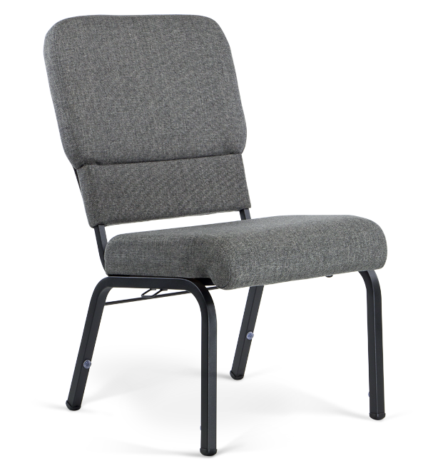 "20"" Wide Liberty Hybrid Church Chairs Charcoal & Black"