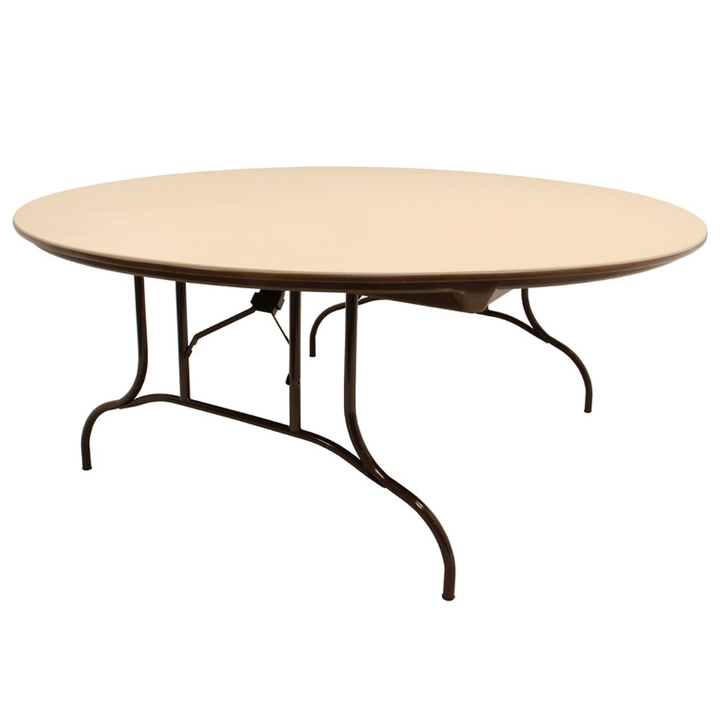 "MityLite ABS Plastic 72"" Round Folding Table"